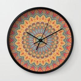 Jewel Mandala - Mandala Art Wall Clock