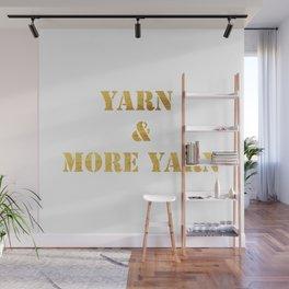 Yarn & More Yarn in Gold Wall Mural