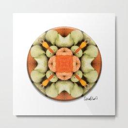 4 Point Mandala - Pumpkins & Gourds Metal Print