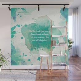 2 Timothy 1:7, Inspiring Bible Verse Wall Mural