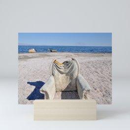 Beach Chair - Salton Sea, California Mini Art Print