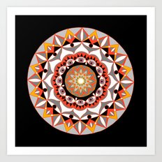 My Solar Plexus Mandhala | Secret Geometry | Energy Symbols Art Print