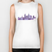melbourne Biker Tanks featuring Melbourne by S. Vaeth
