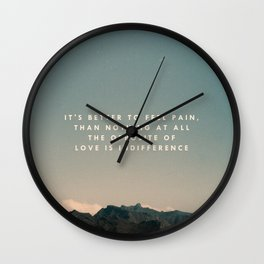 Stubborn Love Wall Clock