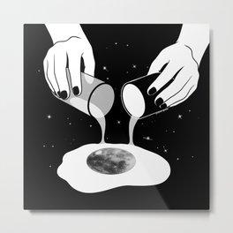 Moony Side Up Metal Print
