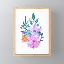 Floral Garden Framed Mini Art Print