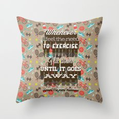 Exercising... Throw Pillow