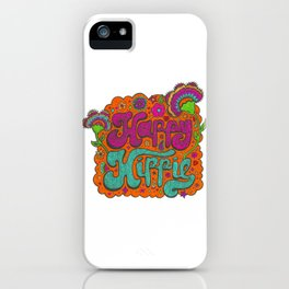 Happy Hippie in color iPhone Case
