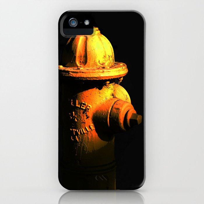 Fire Hydrant Orange and Black Art - Hot - Sharon Cummings iPhone Case