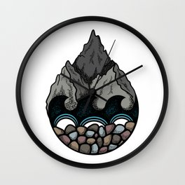 Pebble Mountain Wall Clock