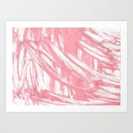 Mauvelous abstract watercolor Art Print
