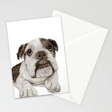 A Bulldog Puppy :: Brindle  Stationery Cards