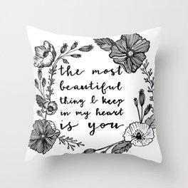 Beautiful Poppies Throw Pillow