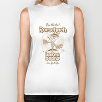 rorschach Biker Tanks featuring Rorschach by Giovanni Costa