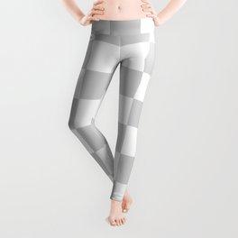 Checkered - White and Light Gray Leggings