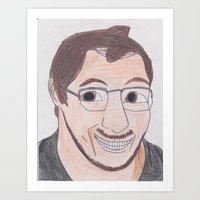 markiplier Art Prints featuring Markiplier by pokelayfe