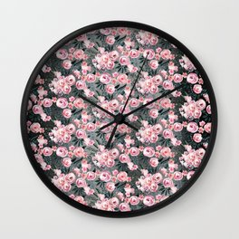 Night Rose Garden Pattern Wall Clock