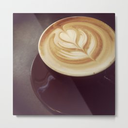 Latte art Metal Print