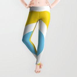 Yellow Evil Eye Symbol Health Protection Leggings