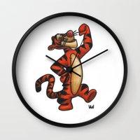 tigger Wall Clocks featuring Tigger by Vanessa Antonina