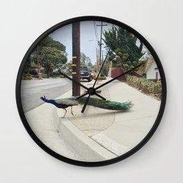 PV Peacock Wall Clock