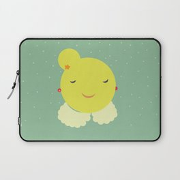 miss sunshine with a collar and snowfall Laptop Sleeve