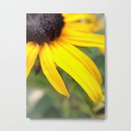 yellow flower softly out of focus Metal Print