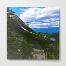 Looking over lower Geraldine Lakes in Jasper National Park, Canada Metal Print