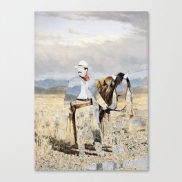 The Unknown Rider Rides West Canvas Print