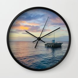 Sunset on the Atlantic Wall Clock