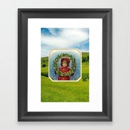 Christmas Card (Wreath Fields) Framed Art Print