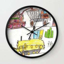 Construction Frenzy Wall Clock