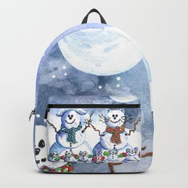 It's Snowing Cats and Dogs (and Mice too) Backpack