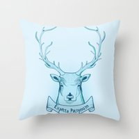 harry potter Throw Pillows featuring Expecto Patronum- Harry Potter by Manfred Maroto
