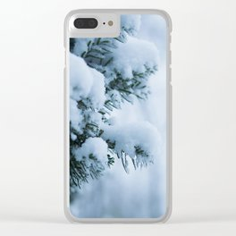 Winter Branches 1 Clear iPhone Case
