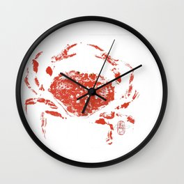 Red crab Wall Clock