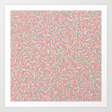Boomerang Pink Art Print