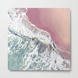 Blush Beach Metal Print