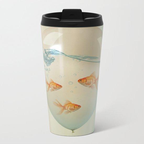 balloon fish 02 Metal Travel Mug