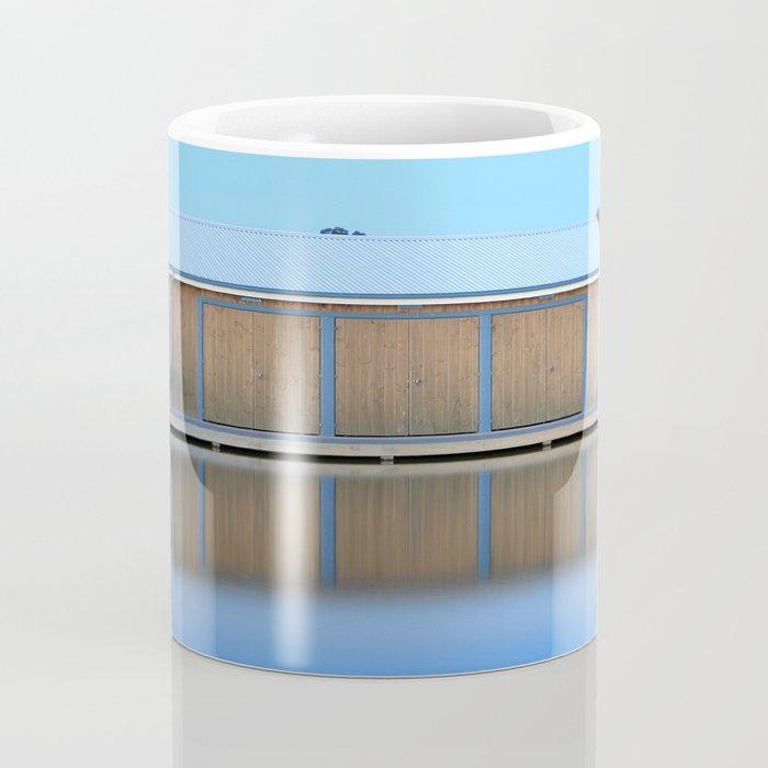 Boat House Blue Coffee Mug
