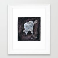 tooth Framed Art Prints featuring Tooth by Jennifer Lewis
