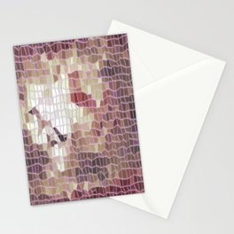 mosaik brown Stationery Cards