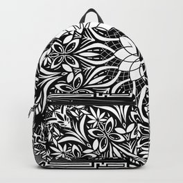 Psychedelic Mandala Geometric Line Art Illustration Backpack
