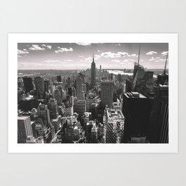 Top Of The Rock. Art Print