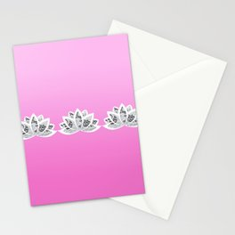 fuchsia lotus Stationery Cards