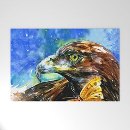 Golden Eagle And Butterfly by Kathy Morton Stanion Welcome Mat