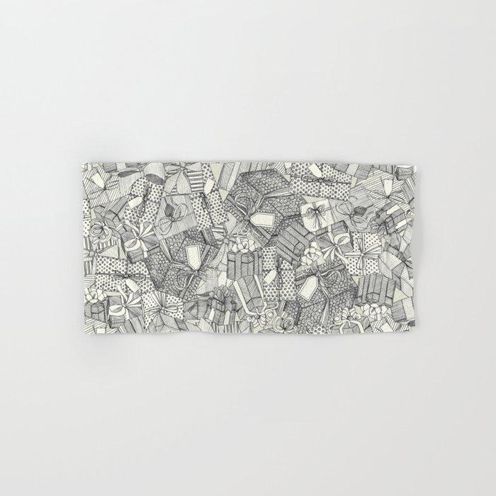 pencil parcels ivory Hand & Bath Towel