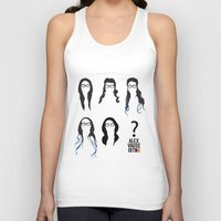alex vause Tank Tops featuring Alex Vause Hairstyles by Zharaoh