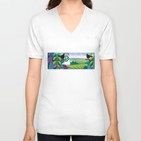 jungle V-neck T-shirts featuring Jungle by charker