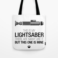 This is my Lightsaber (Luke Version) Tote Bag